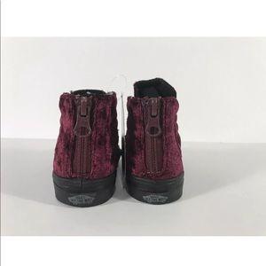 Vans Shoes - Vans Sk8-Hi Zip Velvet Red Black Sneakers